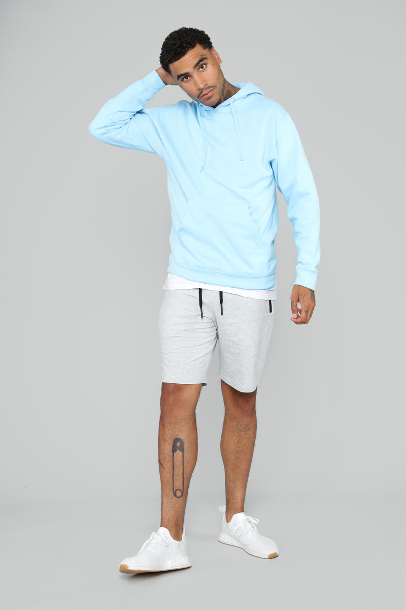 My Go To Pull-Over Hoodie - Light Blue