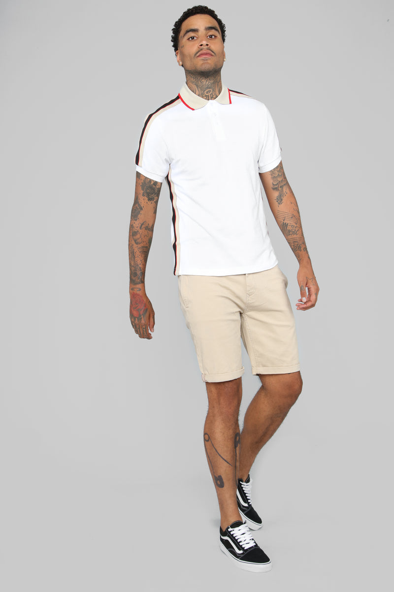 Reeves Short Sleeve Polo - White
