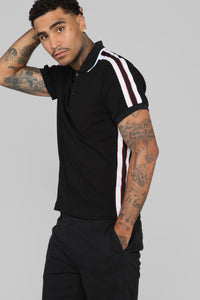 Reeves Short Sleeve Polo - Black