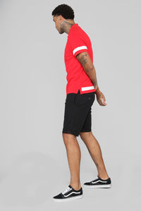 Curtis Short Sleeve Polo - Red