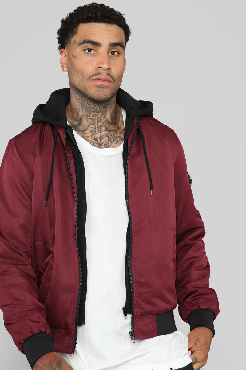 Modern Flight Jacket - Burgundy