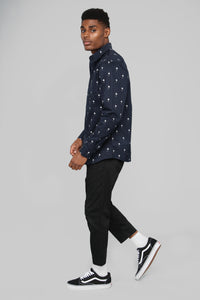 Baldwin Button Up Shirt - Navy