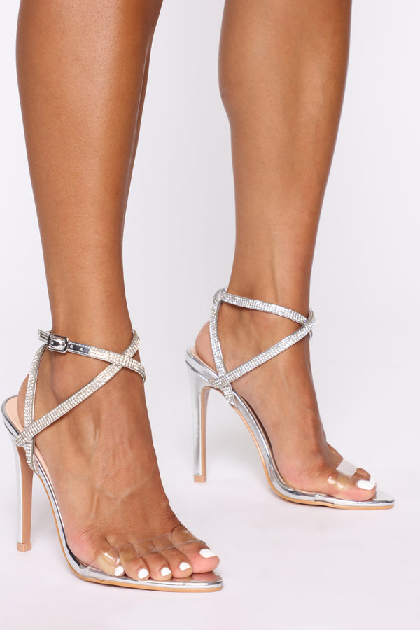 2bb4b02a7cc Oh So Mysterious Heeled Sandals - Silver