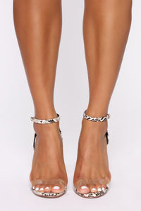 Love You Differently Heeled Sandals - Snake Angle 2