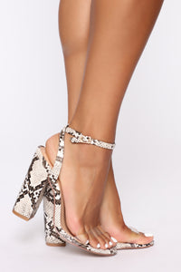 Love You Differently Heeled Sandals - Snake Angle 1