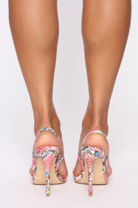 Girl Time Heeled Sandals - MultiColor