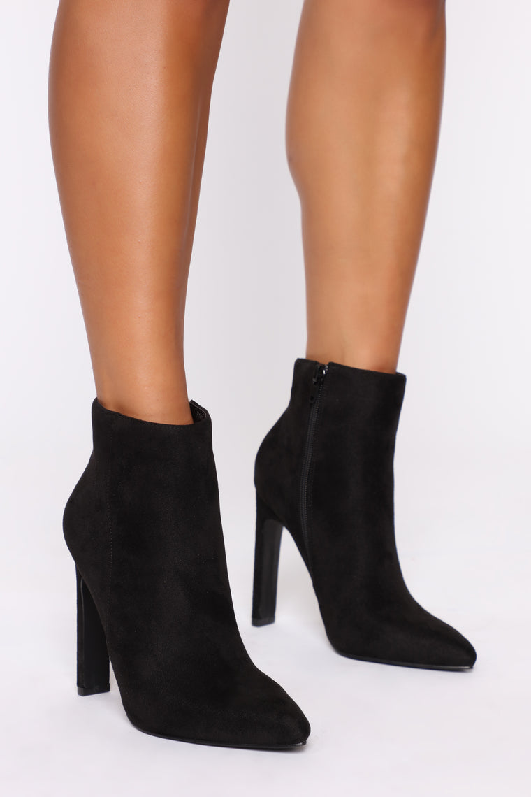 Technically Wrong Booties   Black by Fashion Nova