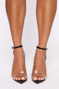 Seductress Heeled Sandals - Black