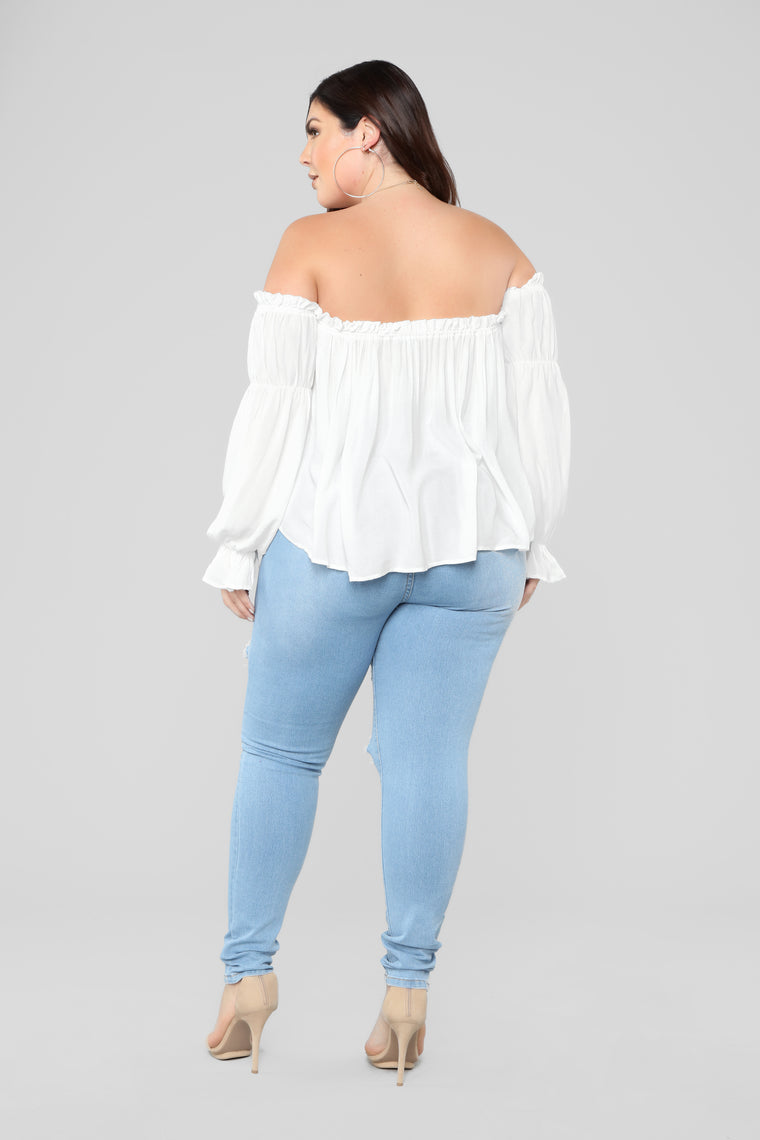 Juliet Off Shoulder Top - Off White