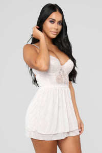 Got You Covered For The Night Babydoll - Beige