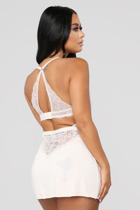 I Am His N' He Is Mine Chemise - Beige Angle 3