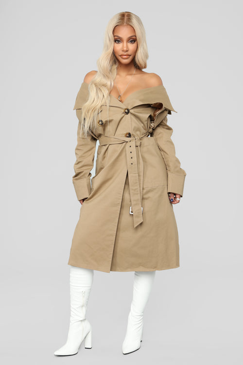 Khloe Trench Jacket - Sand