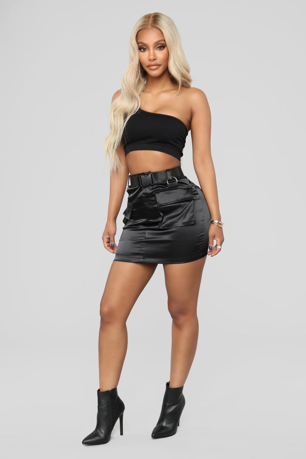 8fff007ae66 Blakely Cargo Skirt - Black