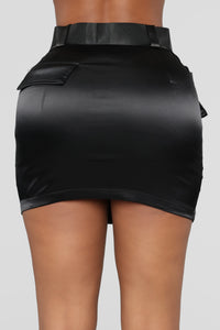 Blakely Cargo Skirt - Black
