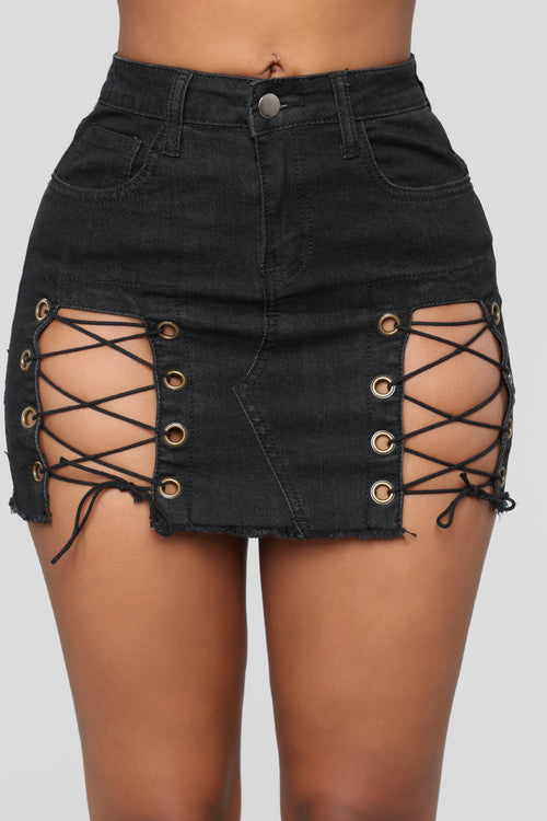 Frisky Mini Skirt - Black