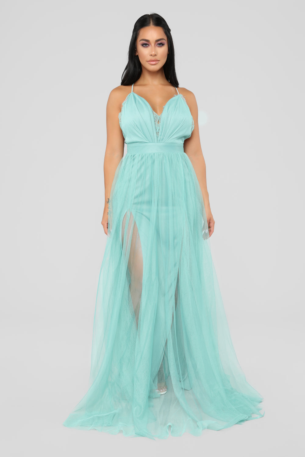 Work The Runway Maxi Dress - Mint