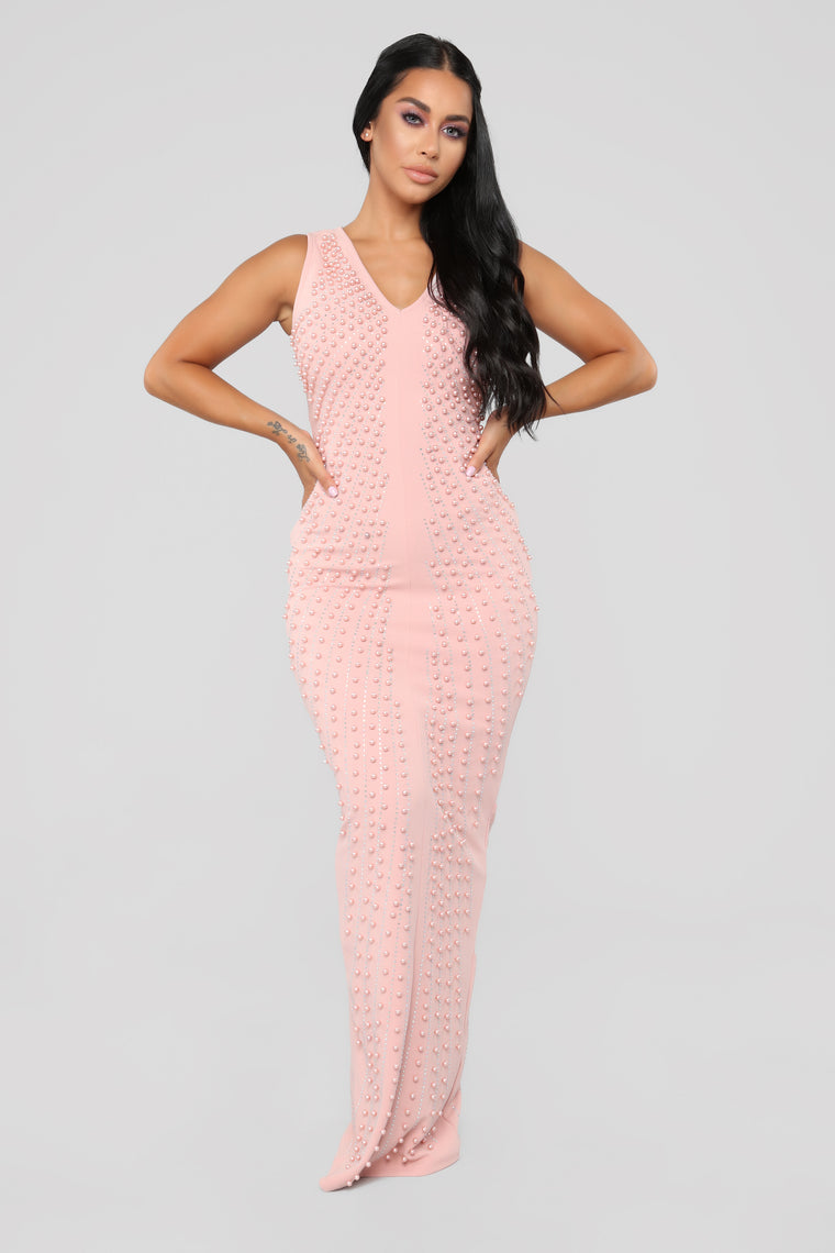 Pearl Passion Dress - Blush