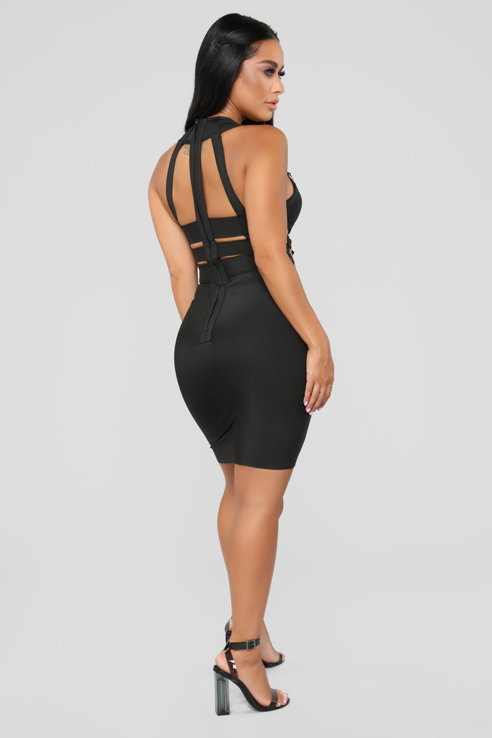 Kimberly Bandage Dress - Black