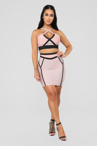 Love On Top Bandage Set - Rose/Taupe Angle 2