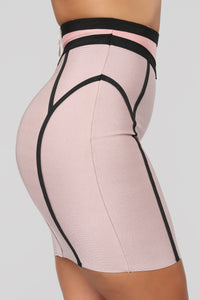 Love On Top Bandage Set - Rose/Taupe Angle 8