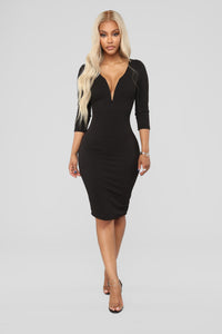 Takin' It Slow Dress - Black
