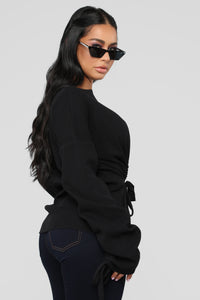 Fashion Stole My Soul Sweater - Black