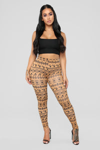 Vibe Out With Me Print Leggings - Multi