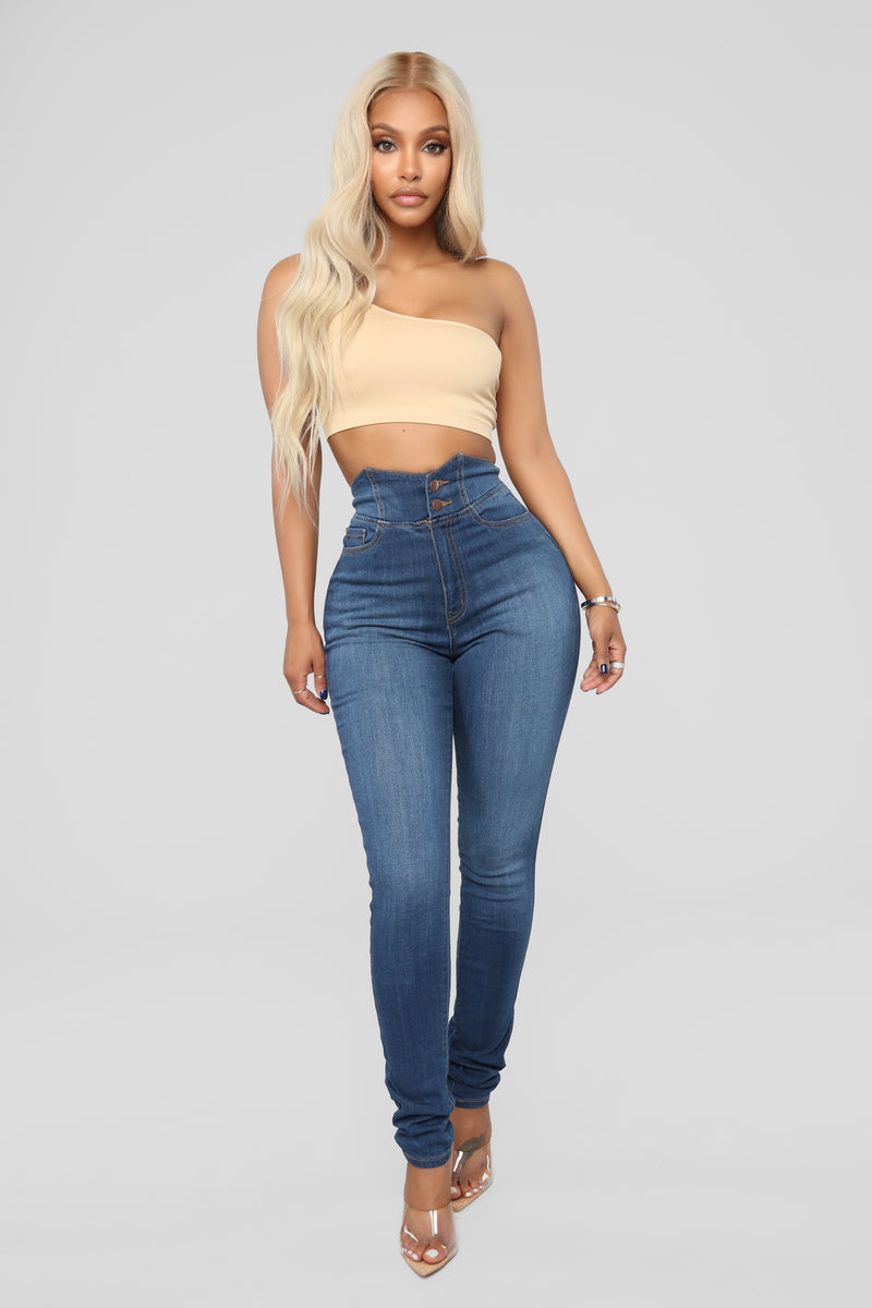 Out The Door High Rise Jeans - Dark Denim