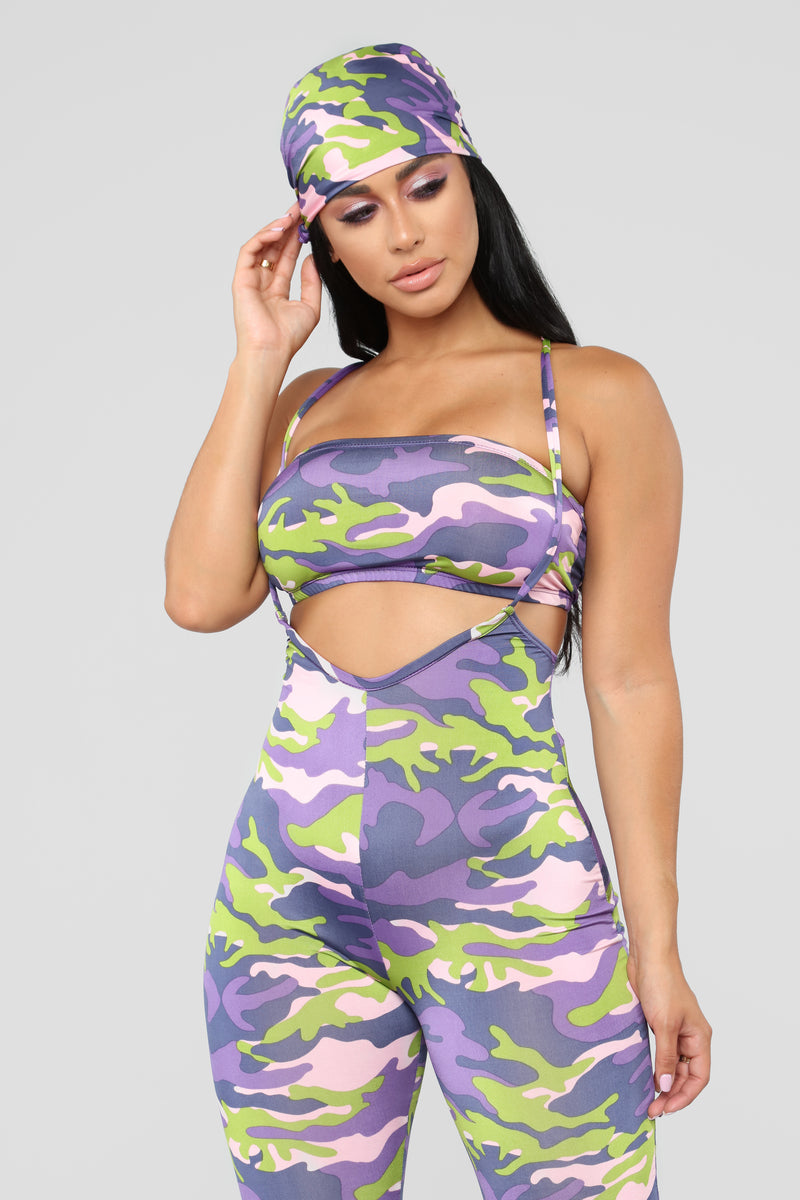 Find Me In The Club 3 Piece Set - Violet/Multi