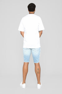 Derick Denim Shorts - Light Blue Wash
