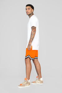 Ricky Short Sleeve Elongated Tee - White