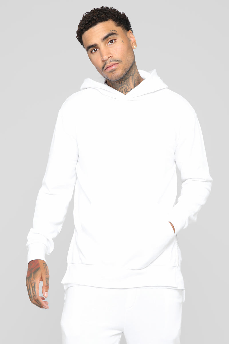 Drew Pullover Hoodie - White