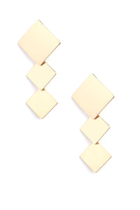 Don't Be Such A Square Earrings - Gold