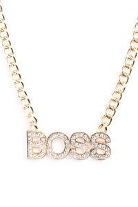 Like A Boss Necklace - Gold