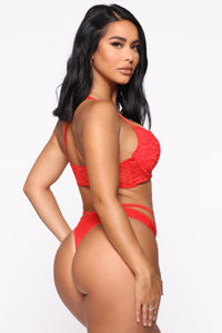Secret Sweetie Bra And Panty Set - Red