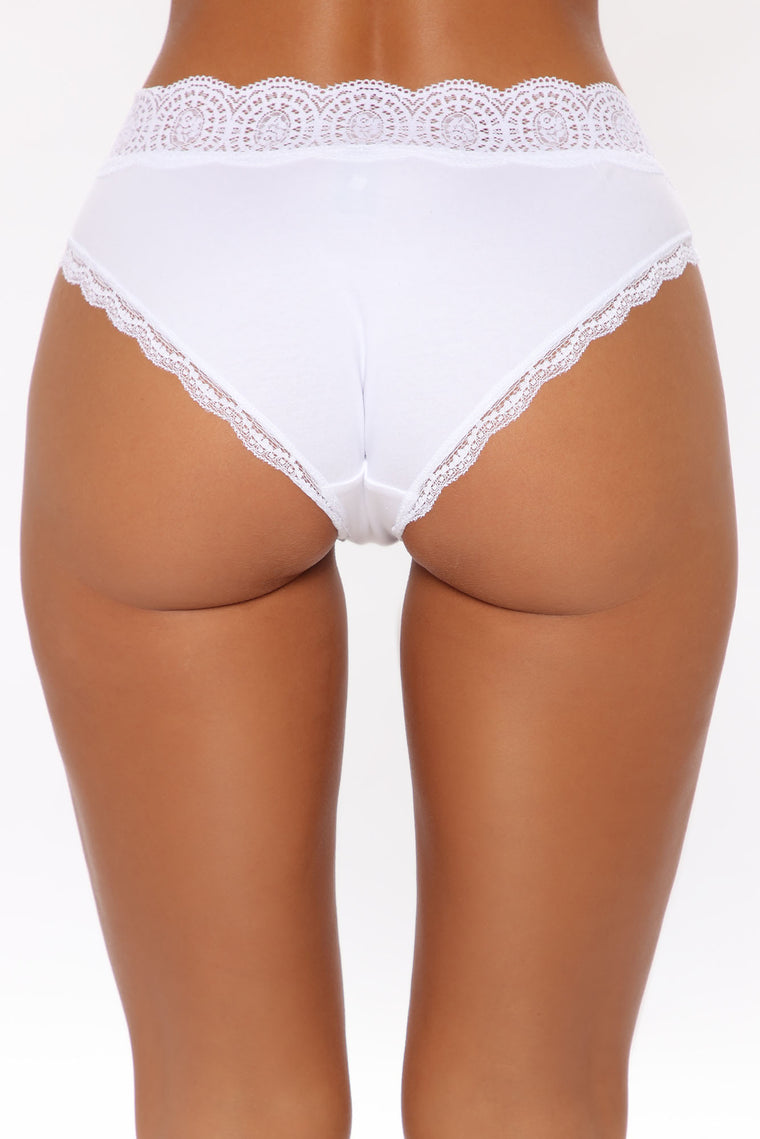 Waist No Time Lace Hipster Panty - White