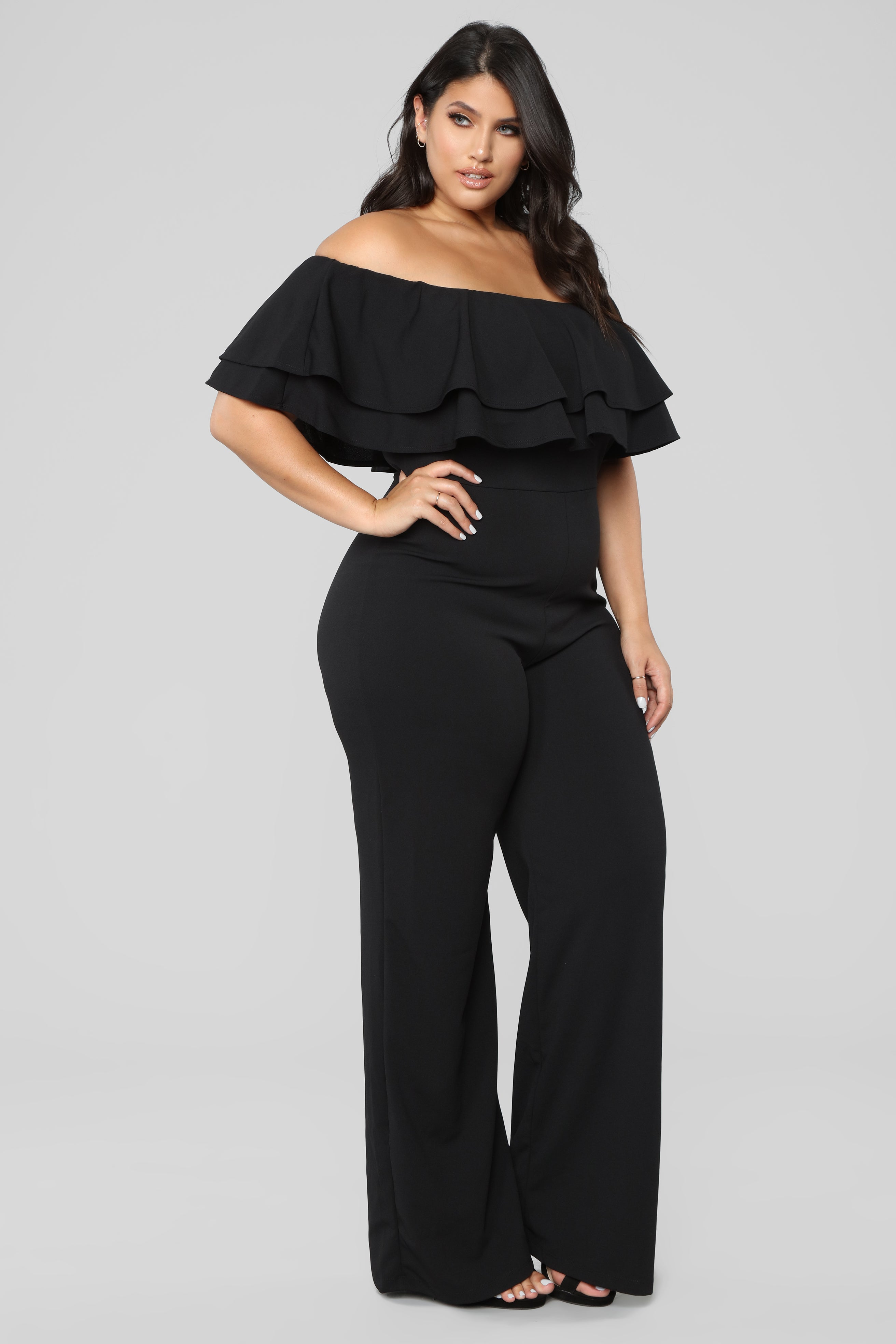 1f5f5463eeb Ready To Ruffle Jumpsuit - Black