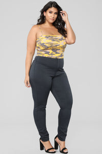 Super High Waist Denim Skinnies - Charcoal Angle 9