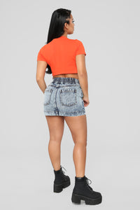 Franky Denim Skirt - Blue