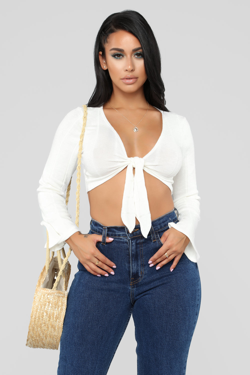 Knot Gonna Happen Crop Top - Ivory
