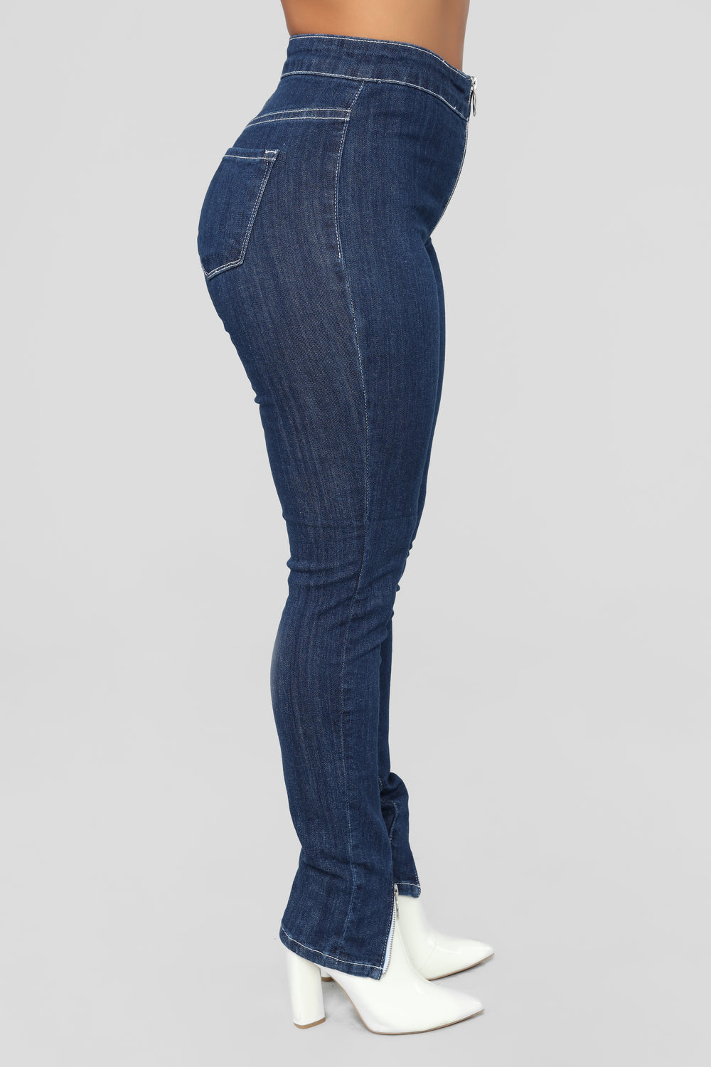 Stop At Nothing High Rise Jeans - Dark Denim