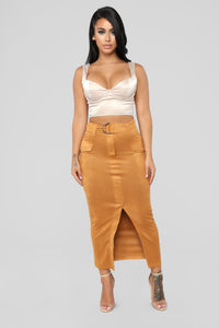 Trading Places Skirt - Camel