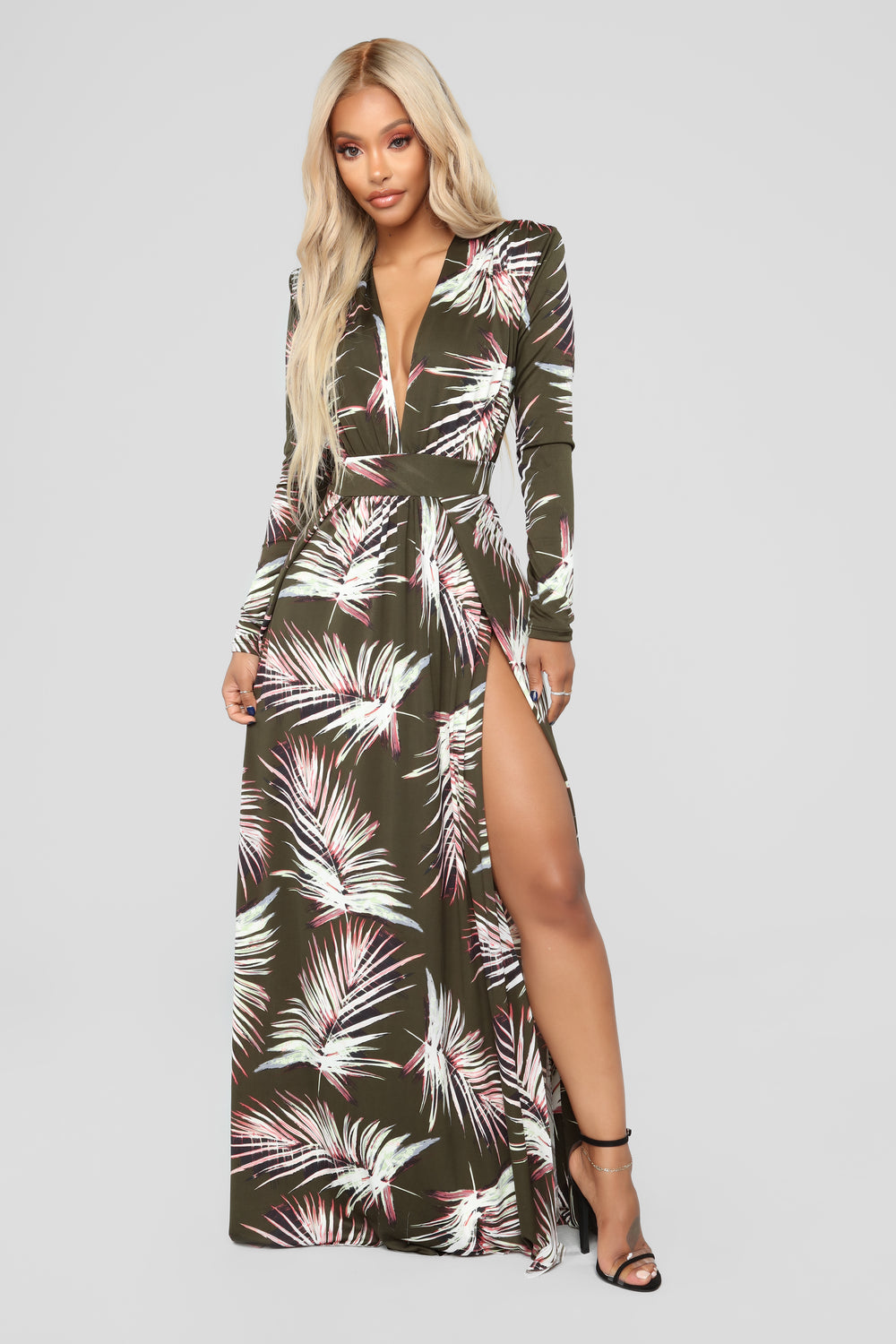 Spending Spree Dress - Olive