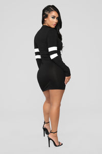 Varsity Blues Dress - Black