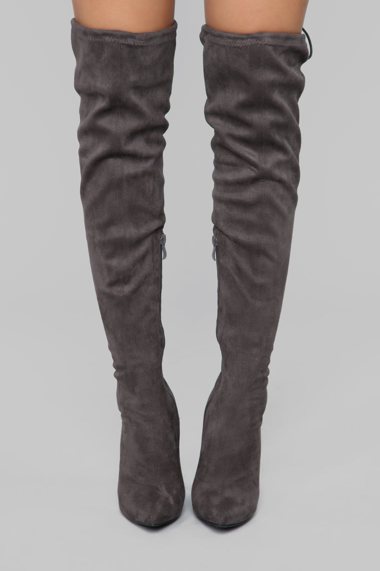 You're Not Ready Heeled Boot - Grey