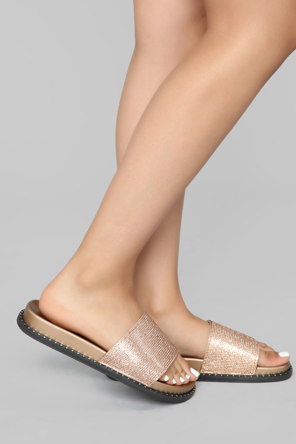 Glam You Up Slide - Rose Gold