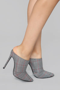 Give Me The Sass Mule Pump - Plaid