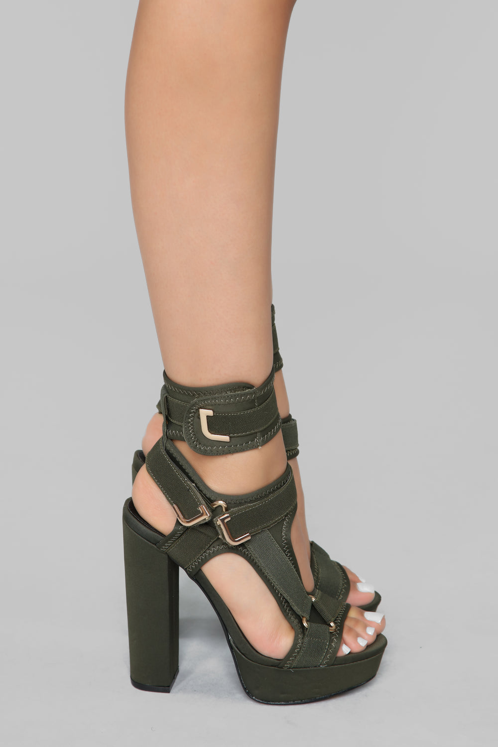 Head In The Clouds Platform Heel - Olive