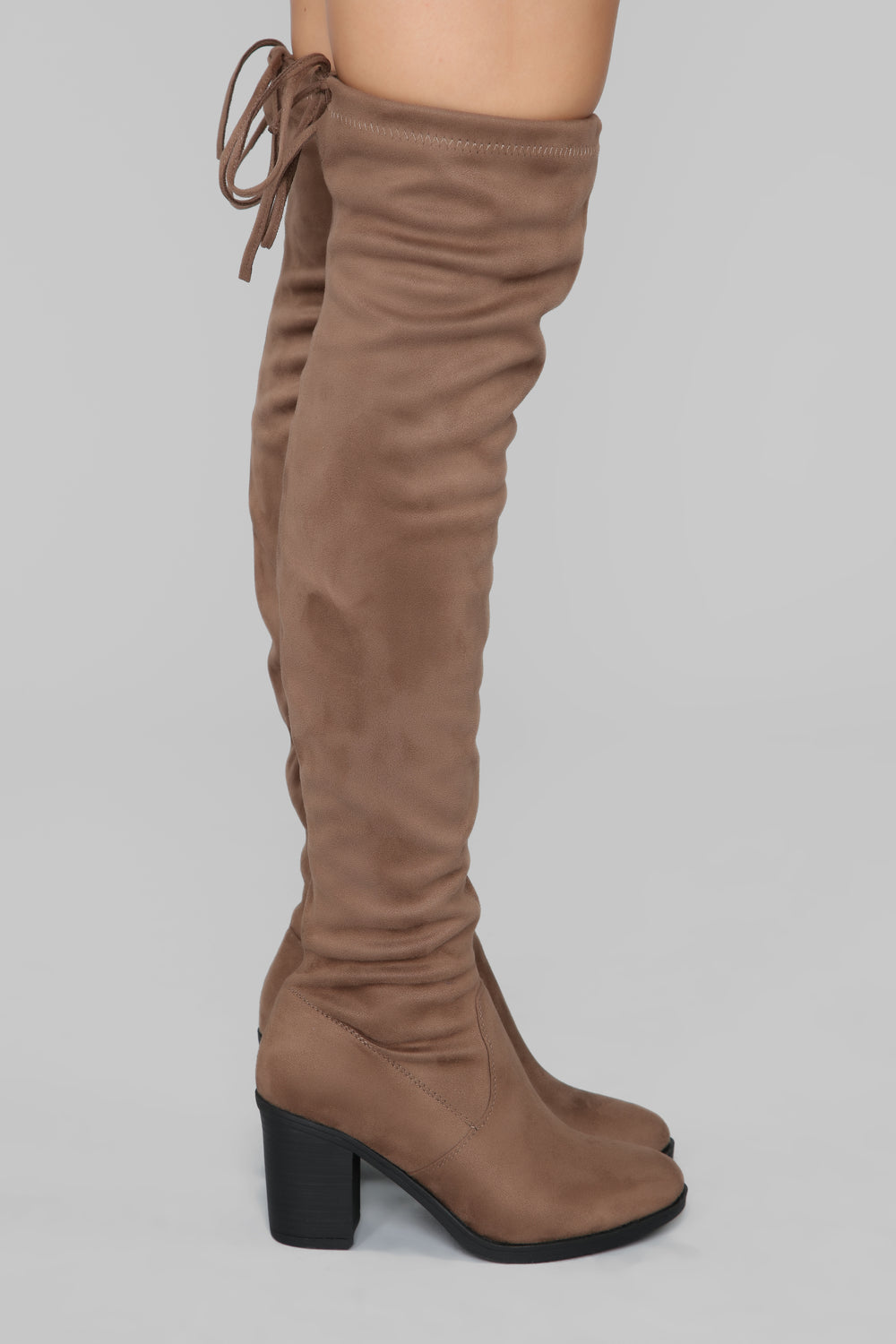 To Be Or Not To Be Heeled Boot - Taupe