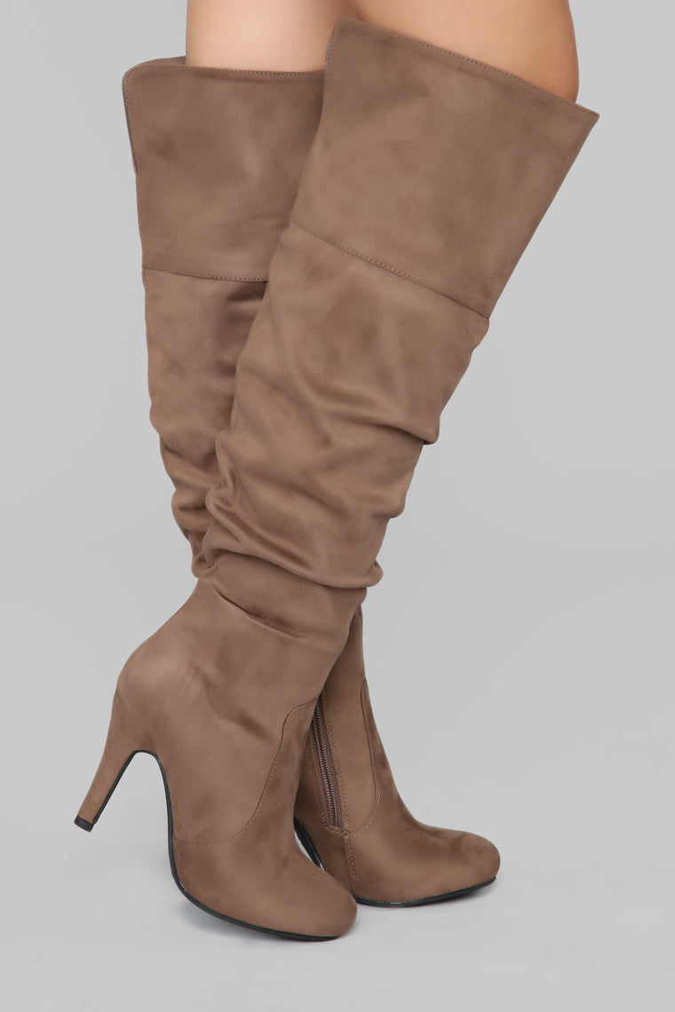 She's The One Heeled Boot - Taupe